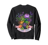 Plant Lady Shirt Gardening Gift Watercolor Flower Garden T-shirt Sweatshirt Black