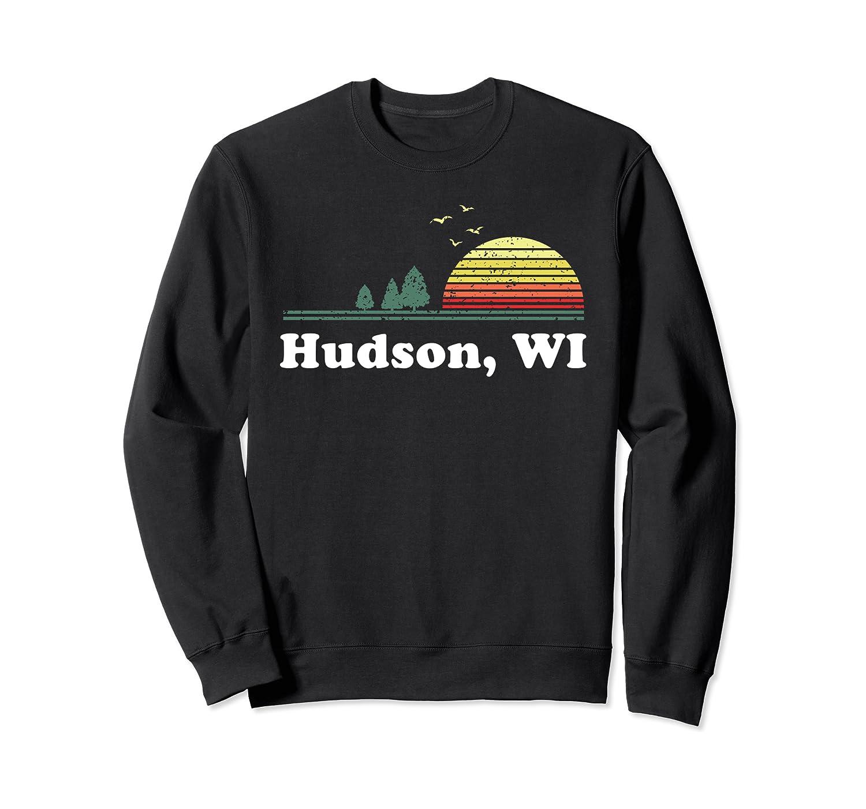 Vintage Hudson, Wisconsin Home Souvenir Print Sweatshirt