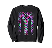 Floral Flower Boricua Taino Cool Gift Plum Puerto Rico Flag Shirts Sweatshirt Black