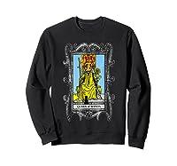 The Queen Of Wands Tarot T-shirt Sweatshirt Black