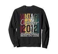 Gift For 8th Birthday October 2012 Vintage Limited Edition Premium T-shirt Sweatshirt Black