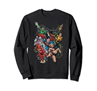 Justice League Refuse To Give Up Shirts Sweatshirt Black