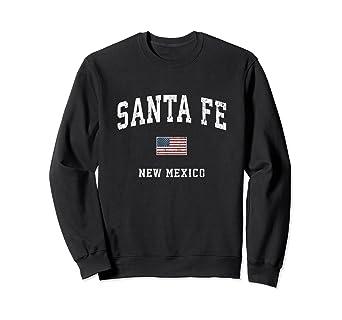 Amazon Com Santa Fe New Mexico Nm Vintage American Flag Sports Design Sweatshirt Clothing