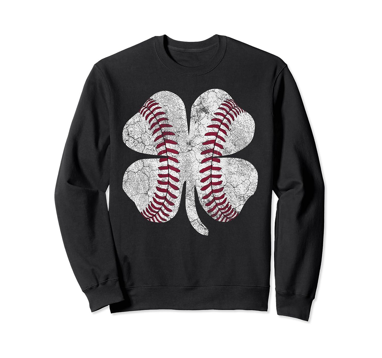 St Patrick's Day Shamrock Baseball Saint Paddy's T-shirt Crewneck Sweater