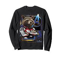 Marvel Avengers Endgame Rocket Logo Graphic T-shirt Sweatshirt Black