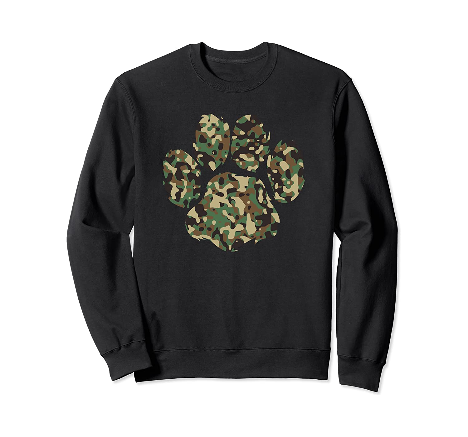 Camo Dog Paw Print Army Dog Dad Sweatshirt