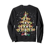Shetland Sheepdog Christmas Tree Funny Sheltie Christmas T-shirt Sweatshirt Black