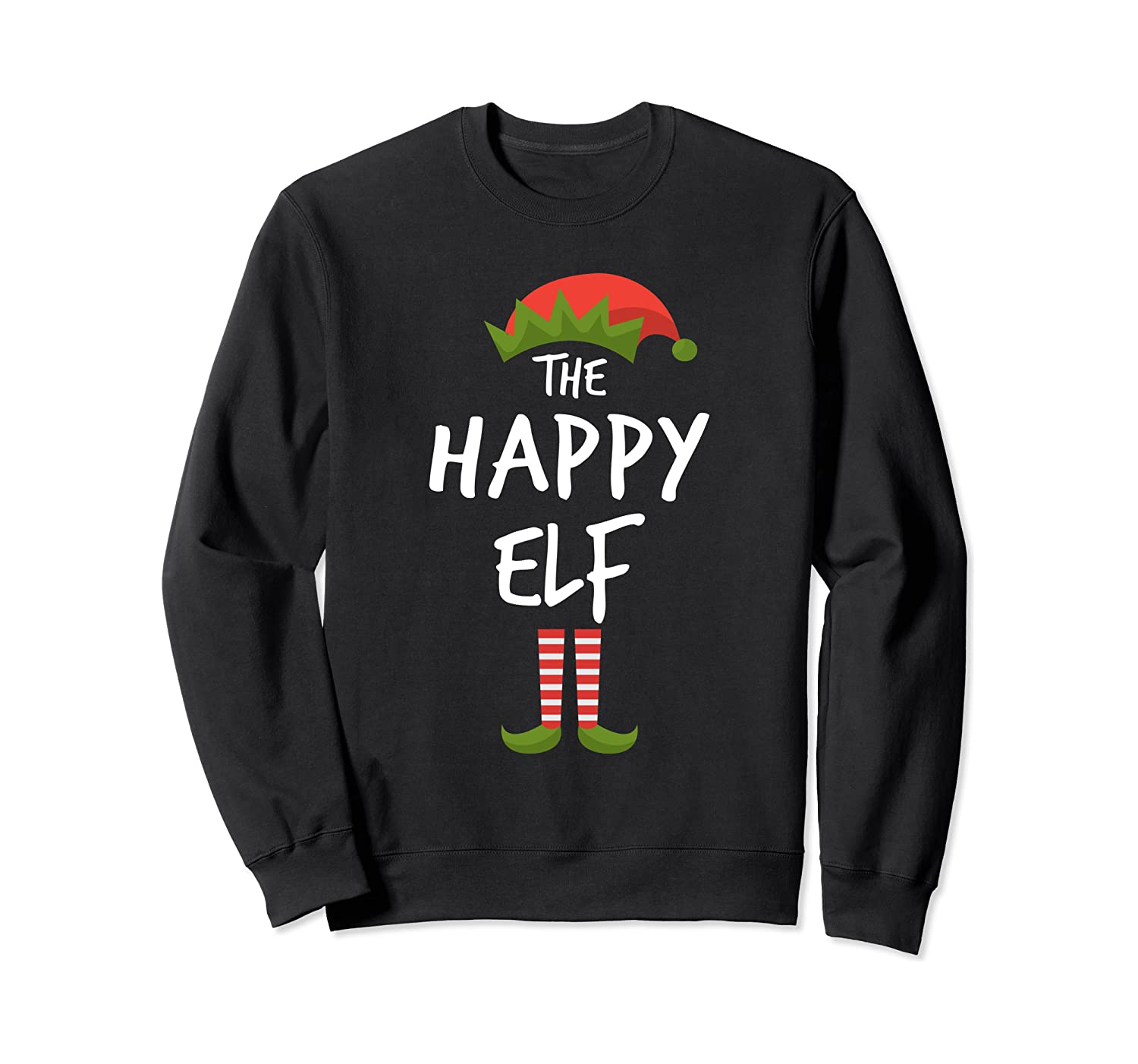 Happy Elf Matching Family Christmas Group Party Pajama Shirts