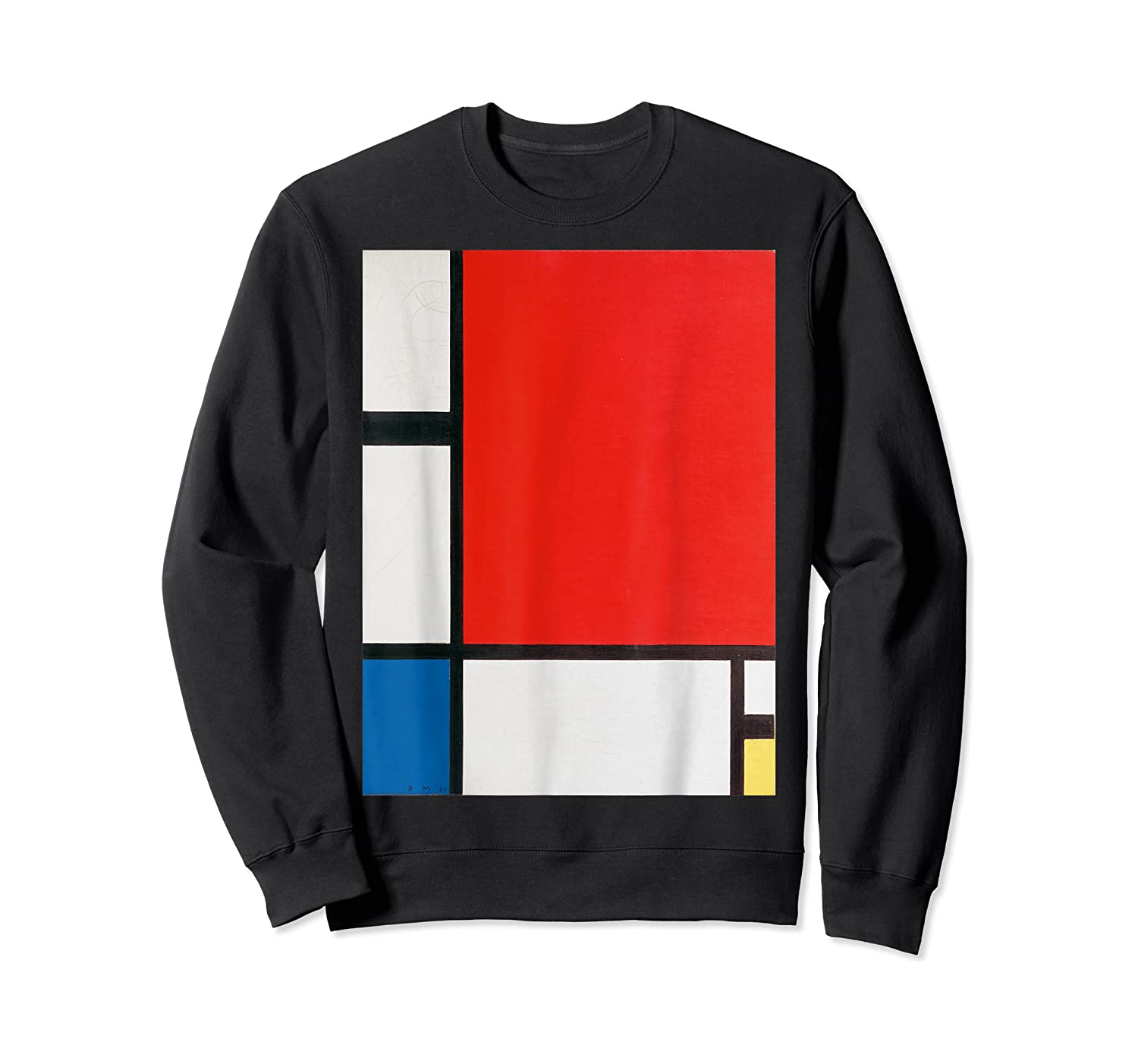 Composition With Red Blue And Yellow T-shirt Crewneck Sweater