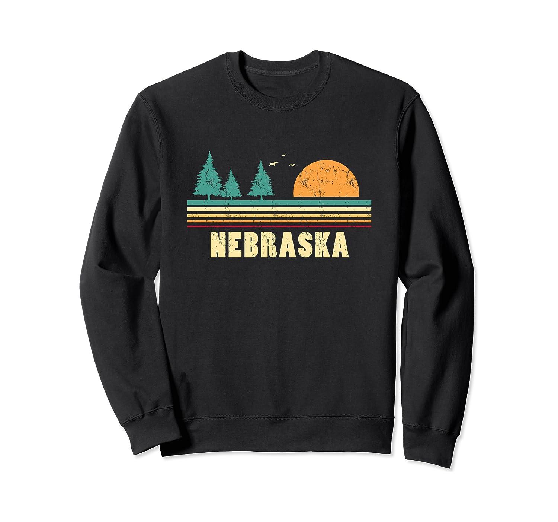 Nebraska Vintage Pine Sunset Souvenir Sweatshirt