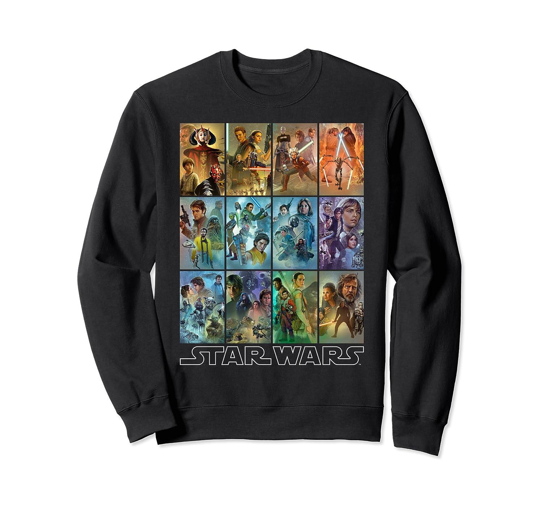 Star Wars Celebration Mural Art Panels Sweatshirt