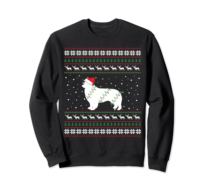 Australian shepherd Ugly Christmas Santa Hat Sweatshirt