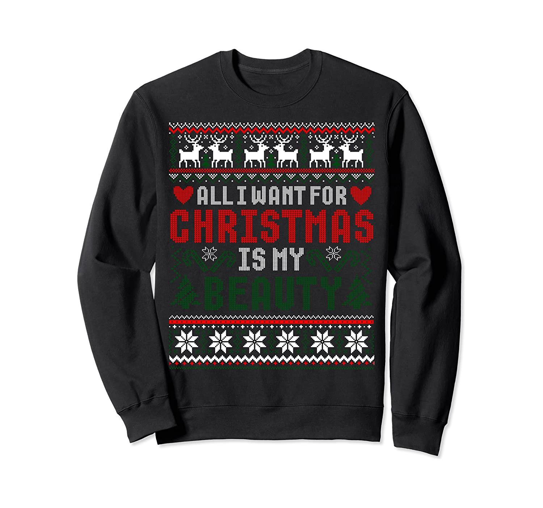 Beauty and Beast Couple Funny Christmas Ugly Sweater Sweatshirt