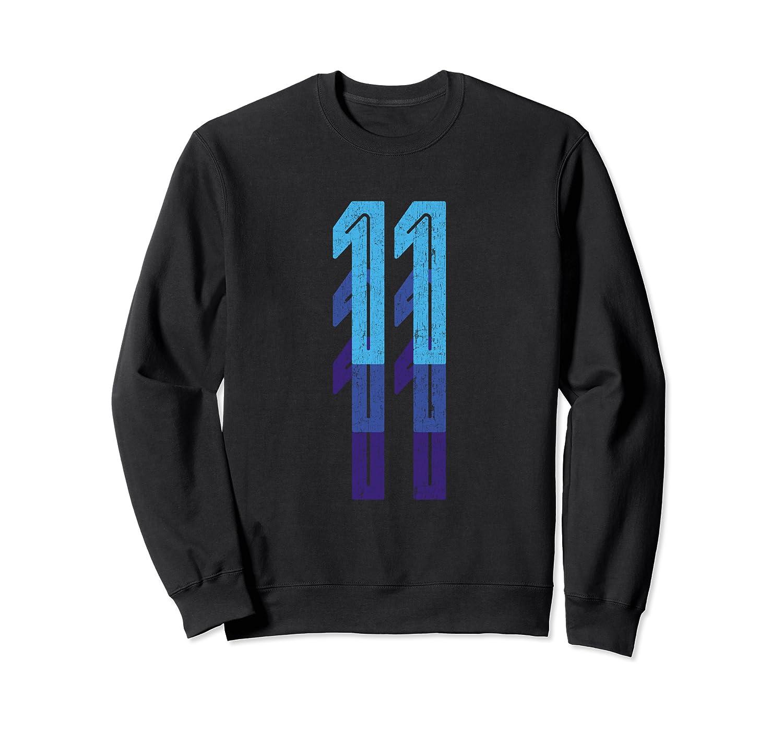 11 Lucky Number 11th Year Birthday Age Sports Team Vintage Sweatshirt
