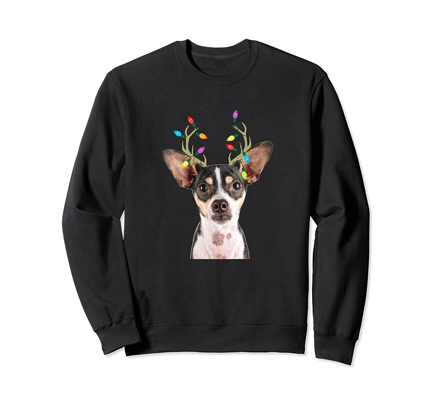 Rat Terrier Reindeer Christmas Dog Sweatshirt