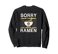 Kawaii Ra Japanese Noodle Food Anime Funny Shirts Sweatshirt Black