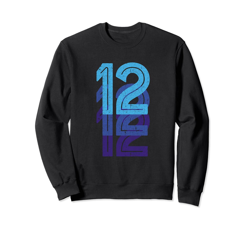12 Lucky Number 12th Year Birthday Age Sports Team Vintage Sweatshirt