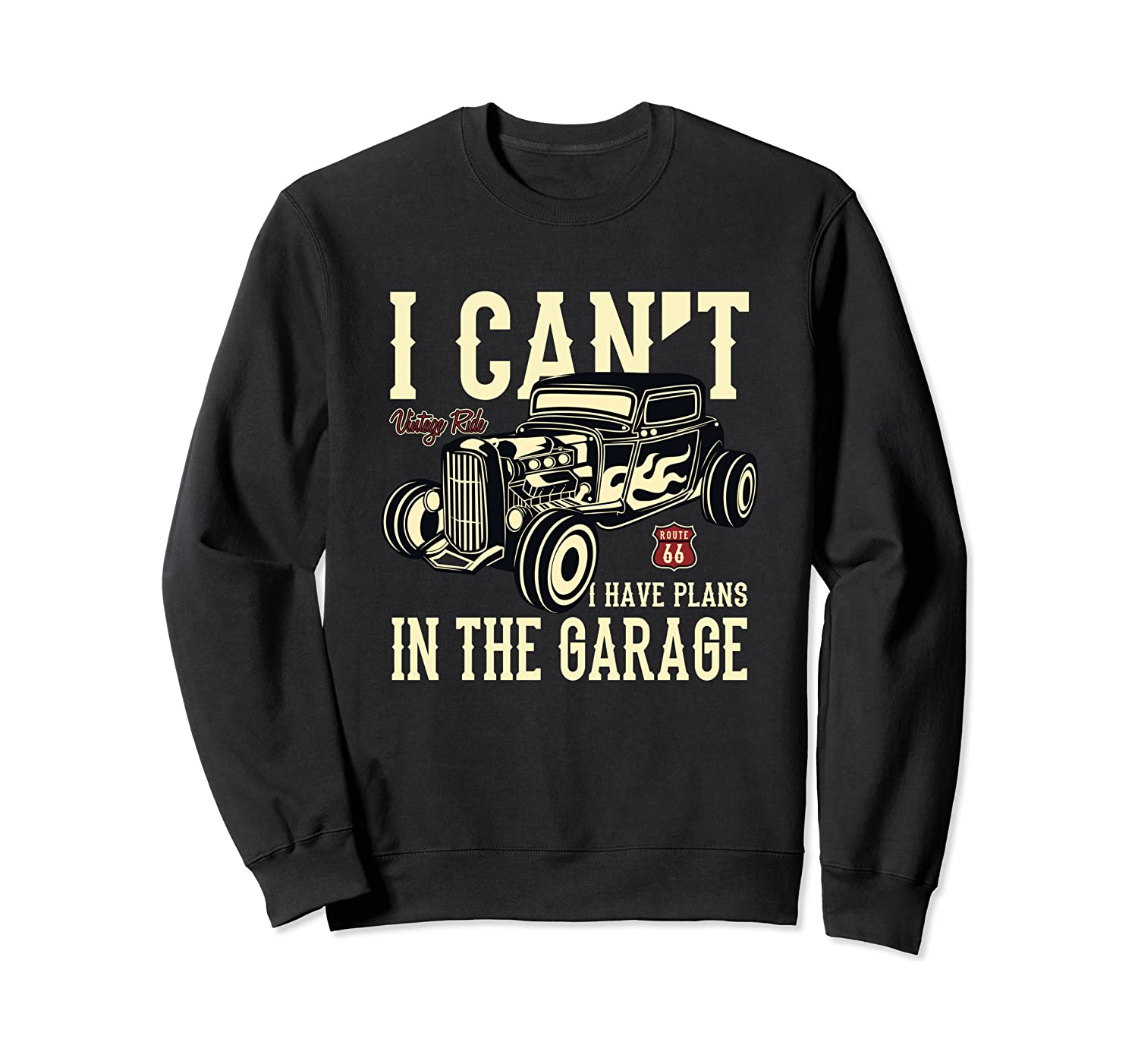 Hot Rod Garage Car Lovers Workshop Auto Mechanics Sweatshirt