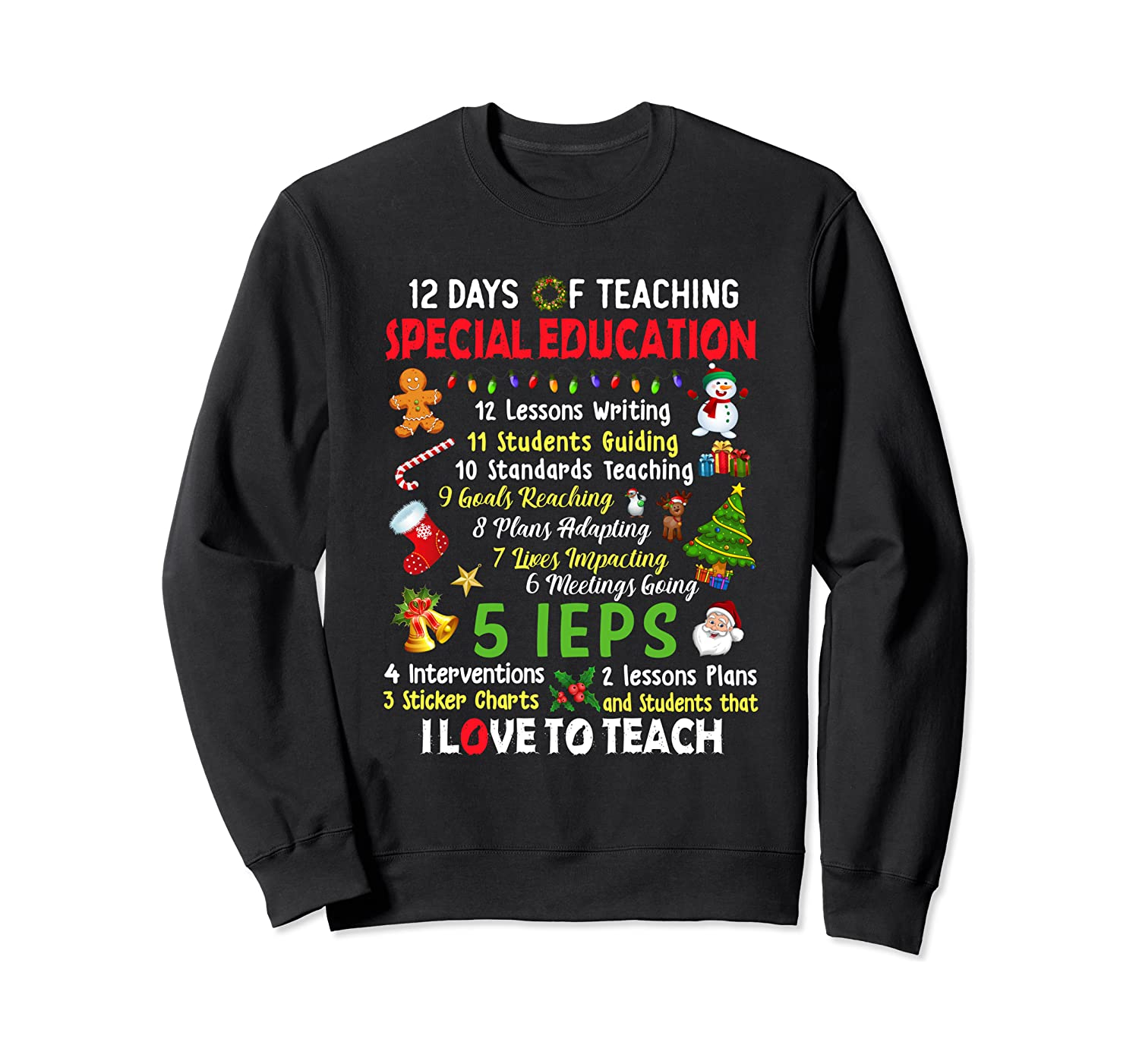 12 Days of Education SPED Sweater