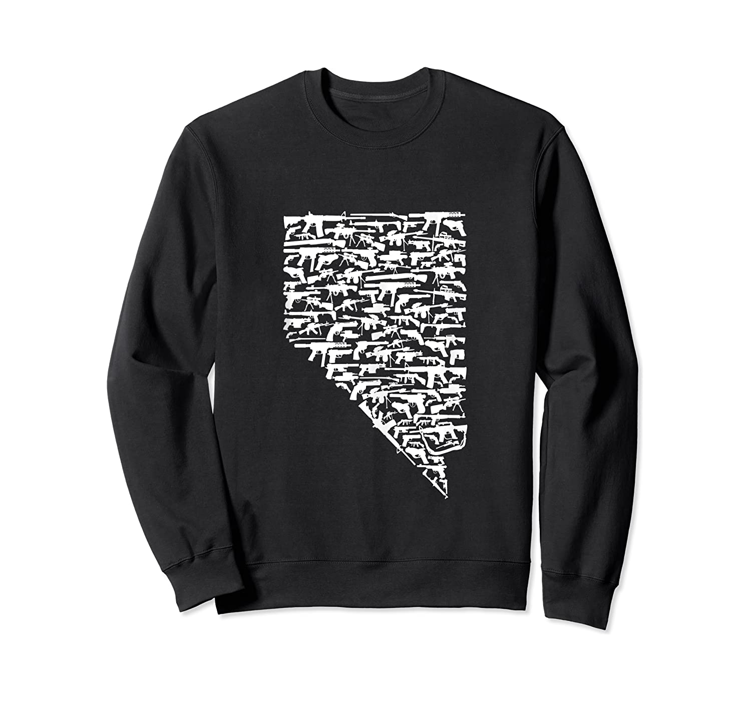 State Of Nevada Made Up Of Guns 2nd Adt Rights Shirts Crewneck Sweater