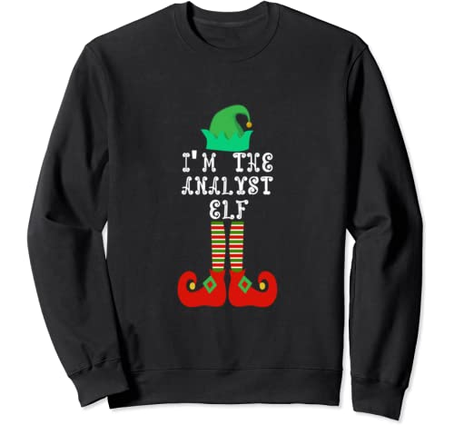 Matching Family Group Christmas I'm The Analyst Elf Sweatshirt