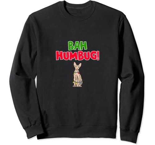 Funny Bah Humbug Sphynx Anti Christmas Sweatshirt