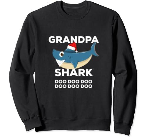 Grandpa Shark Christmas   Matching Family Christmas Sweatshirt