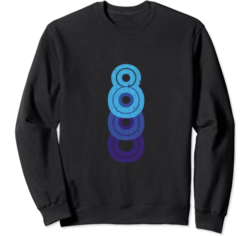 8 Lucky Number 8th Year Birthday Age Sports Team Vintage Sweatshirt