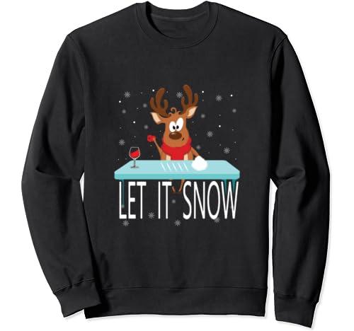 Let It Snow Sweater Christmas Cocaine Reindeer Funny Gift Sweatshirt