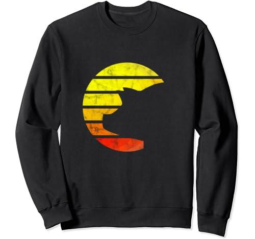 Vintage Eighties Style Pig Retro Father's Gift Sweatshirt