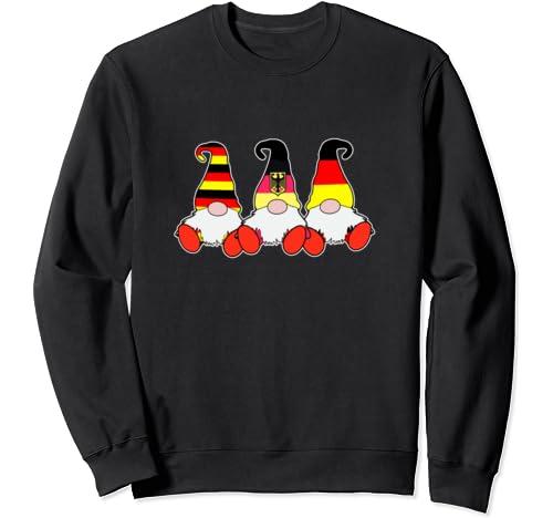 3 German Gnomes Germany Flag Cute Deutsche Deutschland Sweatshirt