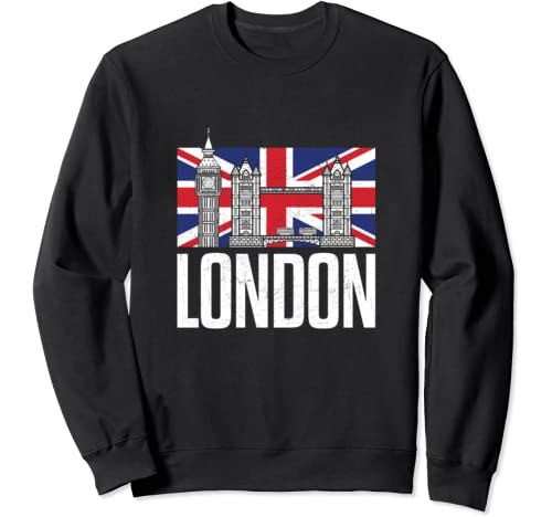 London British Vintage United Kingdom England Souvenir Gift Sweatshirt