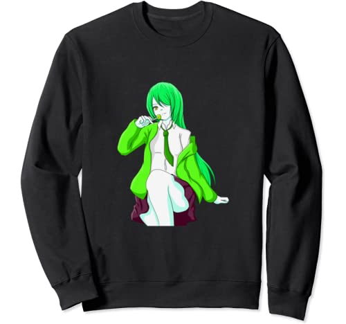 Retro Style & Pop Art Colors Hot Lollipop Anime School Girl Sweatshirt