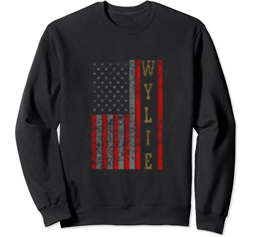 Cool Patriotic Wylie Usa   Us Flag Gift Idea Sweatshirt