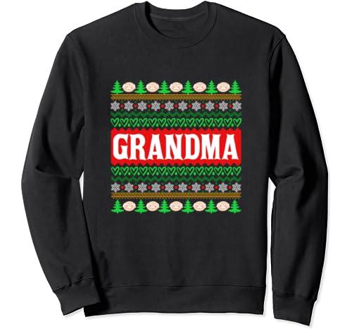 Grandma Ugly Christmas Gift For Grandma Xmas Sweatshirt
