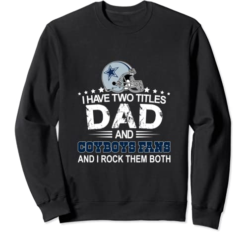 Father's Day Gift Cowboy Flag Football Dallas Fans Christmas Sweatshirt