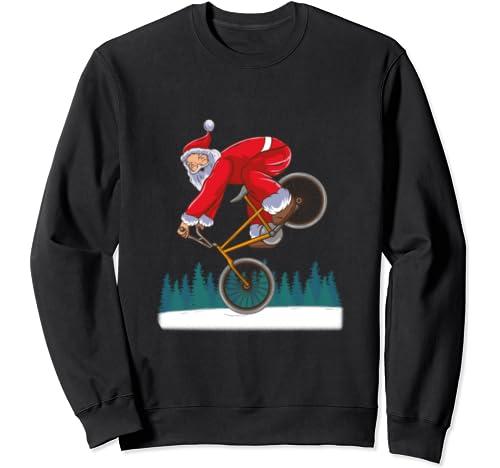 Bmx Santa Claus Freestyle Trick Retro Christmas Gift Sweatshirt