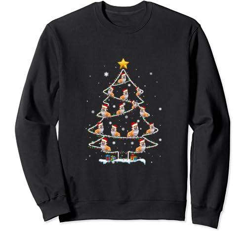 Corgi Christmas Tree Christmas Light Funny Holiday Sweatshirt