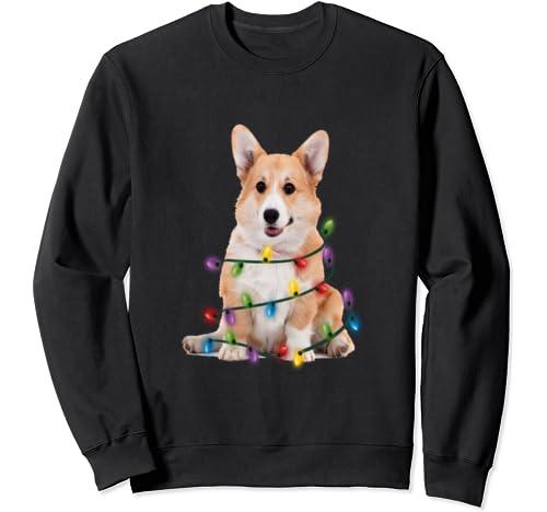 Corgi Christmas Light Shirt Funny Corgi Lover Christmas  Sweatshirt
