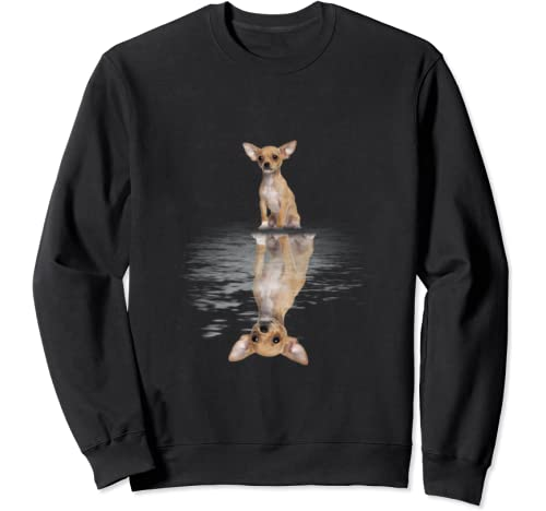 Chihuahua Reflection Funny Father's Day Gift Sweatshirt
