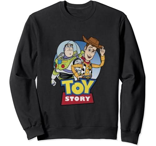 Disney Pixar Toy Story Buzz And Woody Movie Logo Sweatshirt