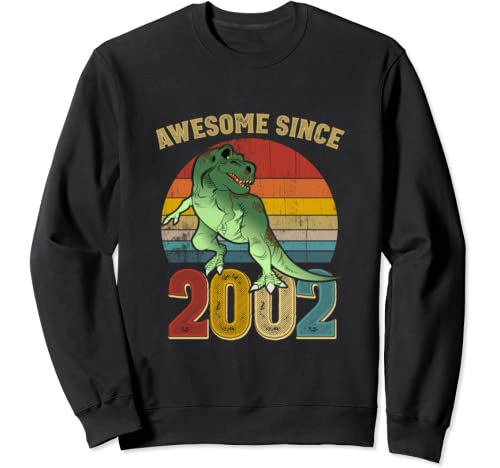 Awesome Since 2002 Mens Womens Vintage 18th Birthday Gifts Sweatshirt