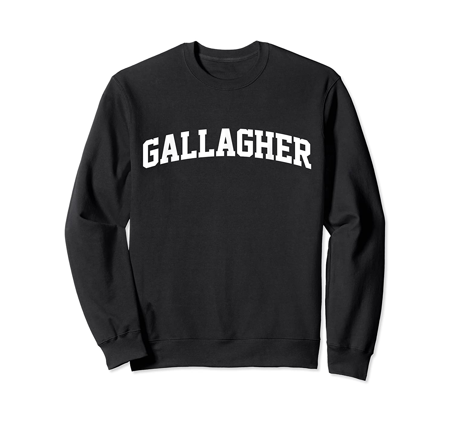 Gallagher Name First Last Retro Sports Arch T Shirt Crewneck Sweater