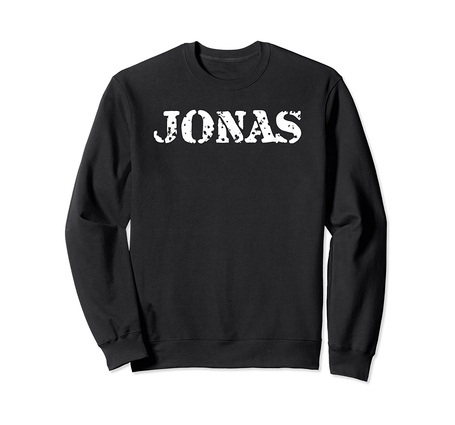 Jonas First Given Name Pride Distressed Gift T Shirt Crewneck Sweater