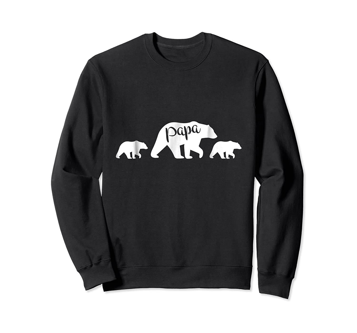 Papa Bear T Shirt With Two Cubs Father S Day Dad Crewneck Sweater
