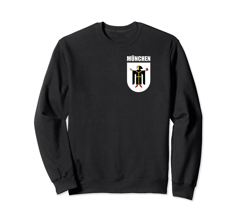 Munich Bavaria Coat Of Arms Souvenir Munchen Deutsch Gifts T-shirt Crewneck Sweater