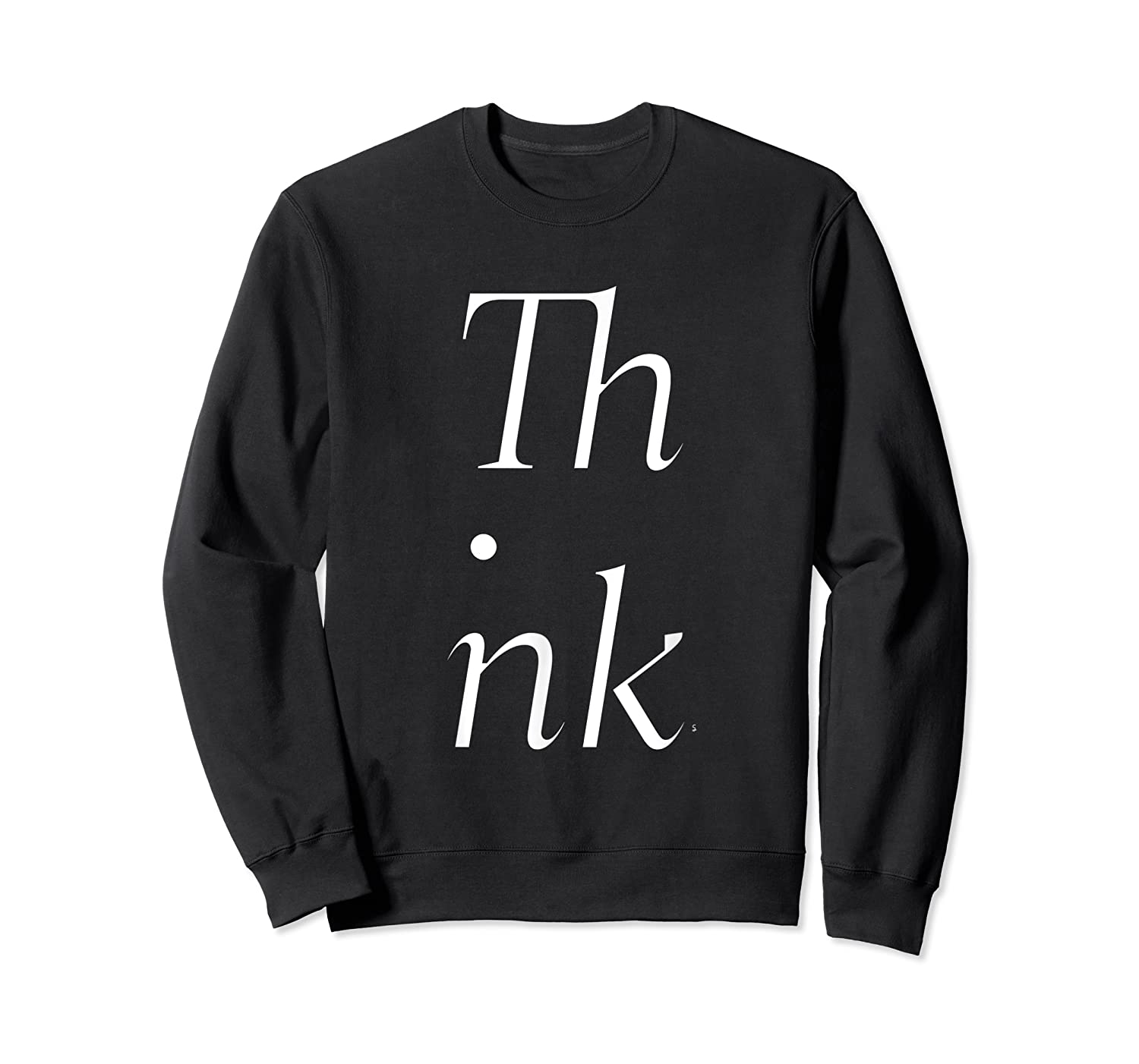Think Stacked Puzzle Decode Typographic Gift T Shirt Crewneck Sweater