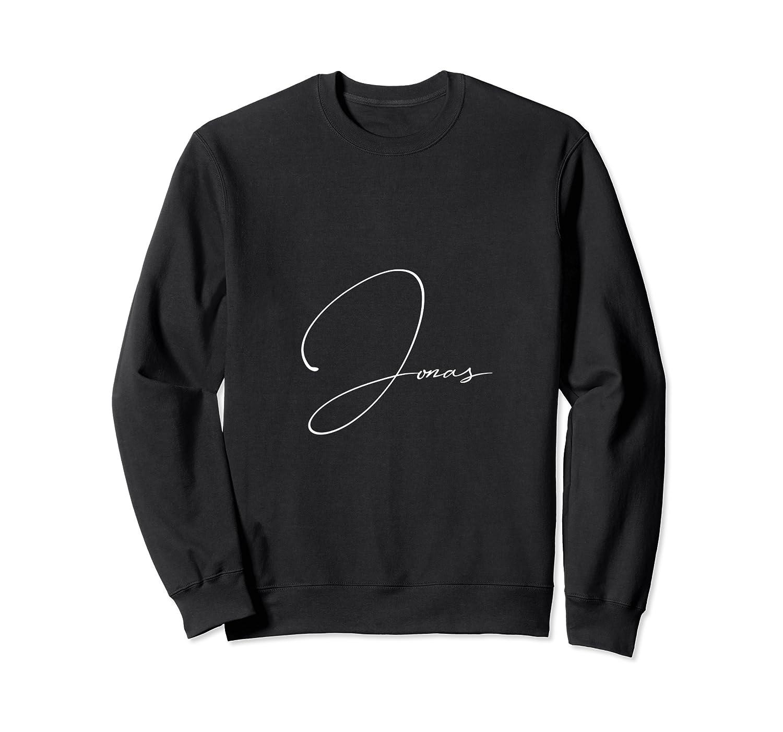 Jonas First Given Name Pride Handwritten Font T Shirt Crewneck Sweater