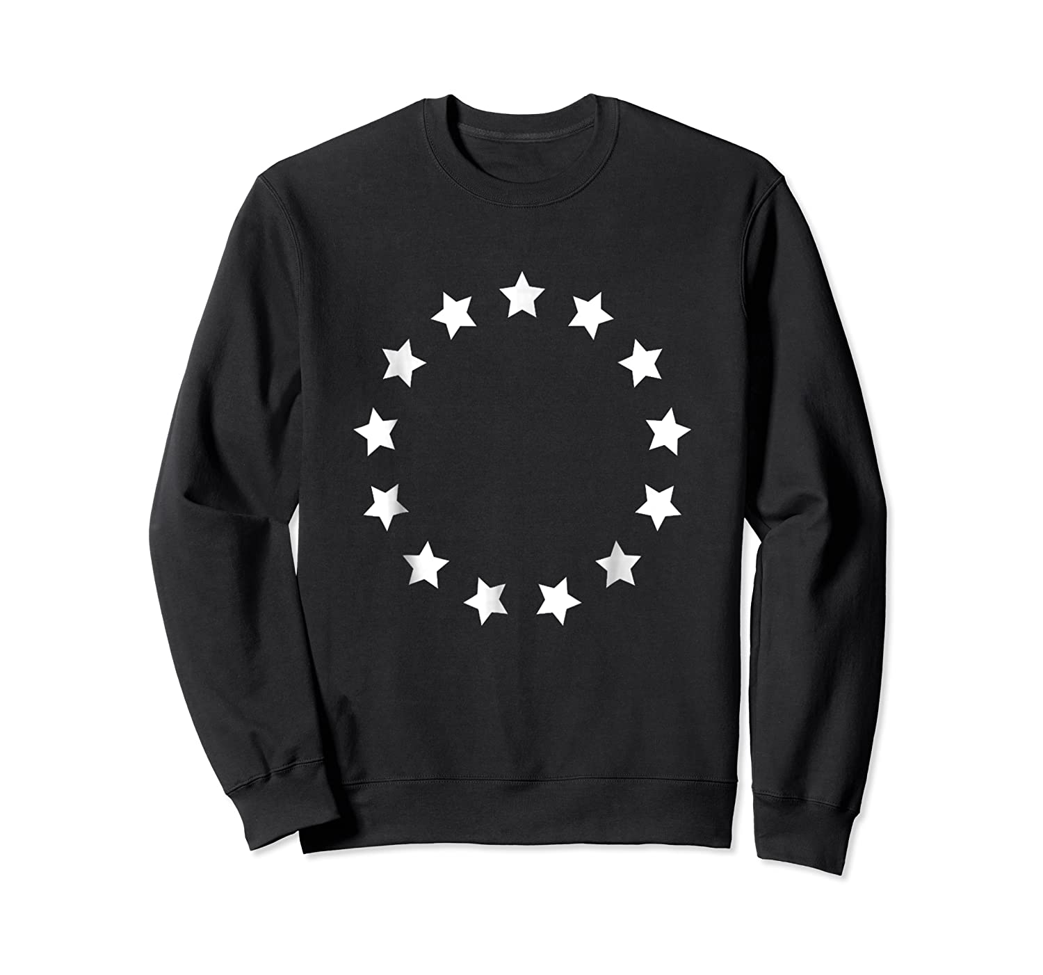 13 Colonies T Shirt Stars Betsy Ross Flag Usa American Crewneck Sweater