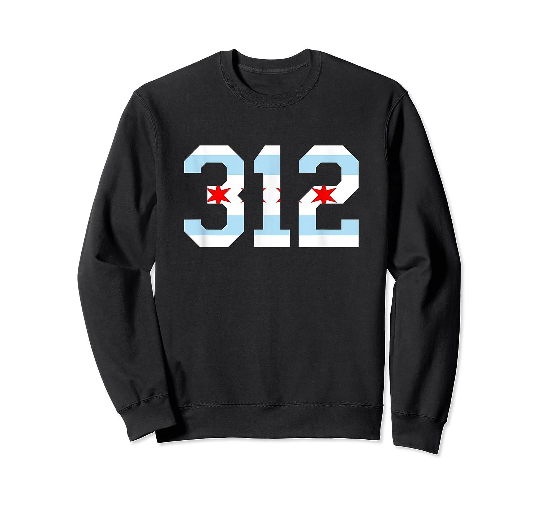 312 Chicago Flag Area Code City Pride T Shirt Crewneck Sweater